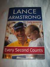 Every Second Counts by Lance Armstrong SIGNED 2003 HCDJ