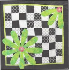 Flower Power applique and machine pieced quilt pattern by Sandy Chambers