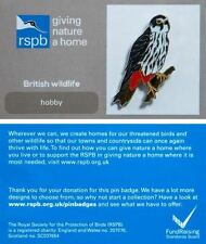 RSPB Pin Badge | Hobby perching | GNaH backing card [00815]