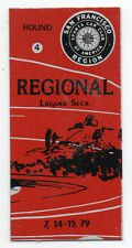1979 Laguna Seca Metal Auto Racing Tag Regional Race Round Four