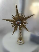 Gisela Graham Christmas Gold Jewel Mini Tree Topper Star Decoration