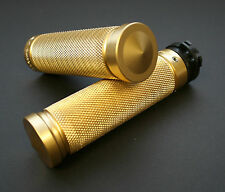 "Accutronix BRASS ""Knurled"" handle bar grips"