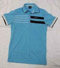 MENS SLIGO BLUE SHORT-SLEEVE POLO GOLF SHIRT SMALL