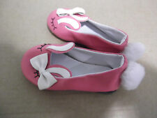 85mm NOVELTY HOT PINK DOLLS SLIPPER WITH BOW FRONT AND POMPOM HEEL