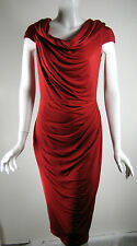 TADASHI SHOJI Red Drapey Cocktail Dress Size Small