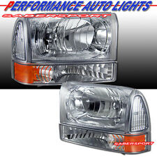 1999-2004 FORD F-250 F-350 SUPERDUTY EXCURSION CHROME HEADLIGHTS + CORNER 4PCS