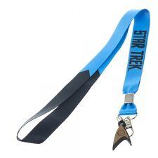 Star Trek Blue Licensed Lanyard Neck Strap Necklace ID Holder Keychain w/ Charm