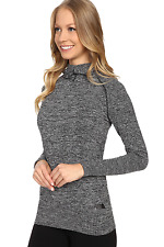NWT Womens North Face Go Seamless Pullover Hoodie Grey Black Small $85