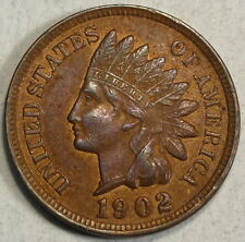 1902 Indian Cent, Original Almost Uncirculated Coin  1123-03