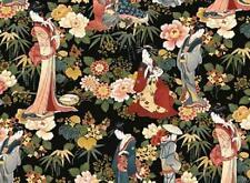Cuarto gordo Gion Japoneses Geishas en Oriental Jardín 100% Algodón, Colchas de retazos de tela