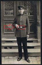 WW1 Portraitfoto Ausgehuniform mit Koppelschloß Hessen Worms