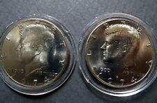1974-P/D  Lot of 2  Vintage KENNEDY HALF DOLLARS, Philadelphia/Denver Mint Coins