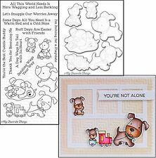 My Favorite Things PLAYFUL PUPS Dog Clear Cling Stamps & Die-namics Dies Set MFT