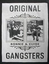 "(866) GANGSTER BONNIE & CLYDE ORIGINAL BANK ROBBERS CRIME NOVELTY POSTER 11""x14"""