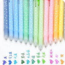 12pcs Ballpoint Pen Cute Lovely Shining Candy Color Kit Stationery 0.5mm New