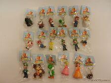 "Lot of 18 Nintendo 2"" Keychain Figures - Mario, Luigi, Yoshi, Donkey Kong, Peach"