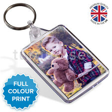 Personalised Custom Photo Gift Keyring Key Fob 50 x 35 mm | Medium Size