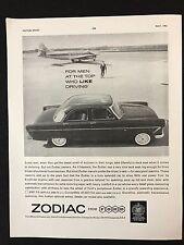Vintage 1961 anuncio de revista deporte del motor-Ford Zodiac