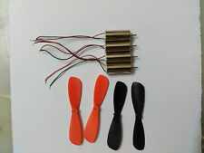 4 PCS DC 3.7V 7mm x 16mm Magnetic Micro Coreless Motor + Propeller 48000RPM