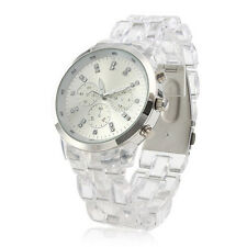 Luxury Crystal Clear Resin Quartz Watch Women Fashion Female Oversize Relogios