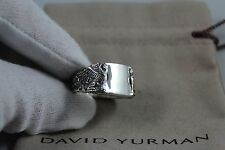 David Yurman men's sterling silver Griffin signet ring  size 9