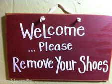 Since little fingers touch our floor remove shoes at door sign barefeet handmade
