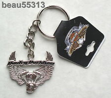 "HARLEY DAVIDSON ""WING & ENGINE"" KEY CHAIN FOB"