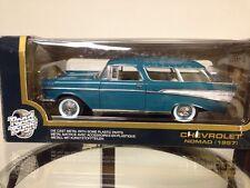 "1957 Chevrolet Nomad Die Cast Metal 1/18"" Scale Collectors Item by Road Tough"
