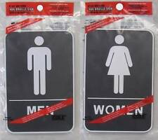 MENS & WOMENS ADA BRAILLE 6x9 SELF STICK BATHROOM SIGN restroom men women G82set