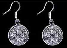 LOOK Mayan Calendar Survive 2012 Sun Real Sterling silver Maya Charm earrings Je