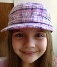 Carhartt Pink Plaid Military Style Hat Girls Youth Adjustable