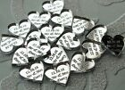 NEW! 50 Personalised Mr & Mrs Hearts Wedding Favours Table Confetti Decorations