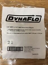 Dynaflo 1/4 mpt x1/4 mpt steel adapters Part Number 421454