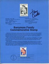 Tony Curtis Some Like It Hot Houdini The Defiant Ones Signed Autograph FDC Sheet