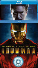 IRON MAN: The Ultimate Edition 2-Disc Blu-ray Set w/ Foil Slipcover - Rare & OOP
