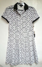 NWT Jason Wu for Target White & Black Dot Print Short Sleeve Shirt Dress Size XS