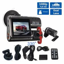 HD 1080P Dual Lens Car Vehicle DVR Camera Dashboard Video Record G Sensor Cam MH