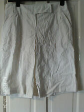 WHITE  LONG SHORTS, SIZE 12