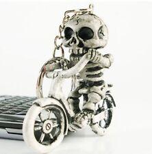 FD636 Bike Skull Gothic Creative Fashion Purse Bag Rubber KeyChain Keyring Gift