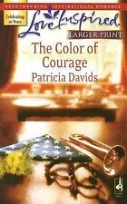 The Color of Courage (Mounted Color Guard Series #1) (Larger Print Love Inspired