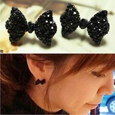 NiX 1396 Black Bow Earrings Women Butterfly Cute Small Earrings Women Gift Girl