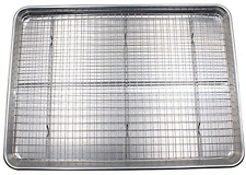 Checkered Chef Half Sheet Pan and Rack Set - Aluminum Cookie Sheet/Baking Tray w
