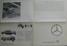 Mercedes Benz 220 Fintail Saloon W112 1960-64 Original Sales Brochure 2234/7e