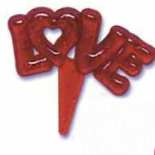 Love Glitter Valentine Cupcake Picks - Choose the color you want!