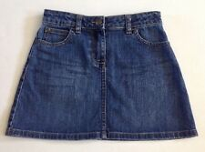 Mini Boden Girls Heart Pocket Denim Jean Skirt 9-10