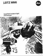Leitz MM6 Largfield Incident-light Microscope Brochure on CD L0174