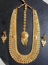 Sale ...Indian 22K Gold Plated Exclusive Necklace Earrings Tikka Set Free Ring//