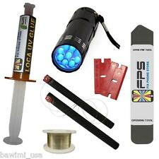 FLASHLIGHT UV + LOCA UV GLUE 5ml + OPENING TOOL GLASS REPAIR Samsung Iphone HTC
