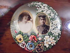 2nd US Cavalry Spanish American War Officer Wife Photo Celluloid Mourning Plate