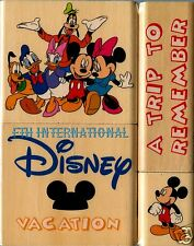 Disney Vacation ~ 4 pce Wood Mount Rubber Stamp Set #47559, Mickey Mouse, Pluto